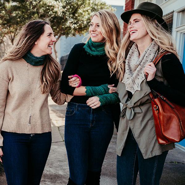 Extraordinary Fashion Designs Three ladies fashion on street
